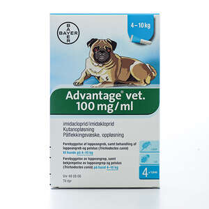 Advantage pour-on hund 4-10 kg