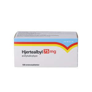 Hjertealbyl 75 mg 100 stk