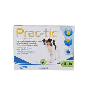 Prac-tic Spot-on opløsning (Hunde 4,5-11 kg)