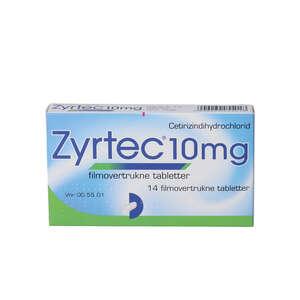 Zyrtec 10 mg 14 stk