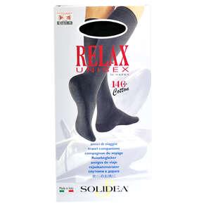 Solidea Relax Unisex Cotton Knæstrømper (XL/sort/lukket)