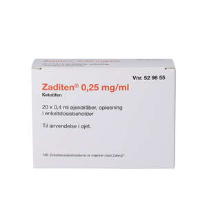 Zaditen (2C4) øjendråber 20*0,4 ml