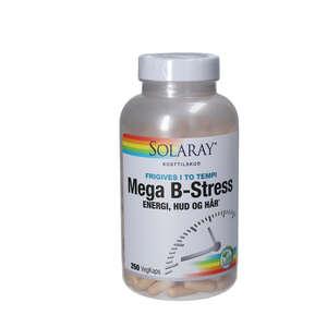 Solaray Mega B-stress kapsler (250 stk.)