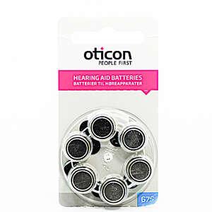 Oticon Zinc Air batterier