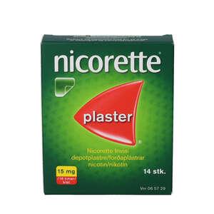 Nicorette invisi plaster 15mg 14 stk
