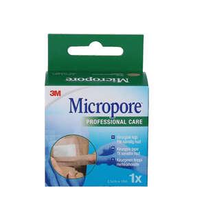 3M Micropore Papirtape (beige/2,5 cm)