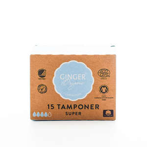 GingerOrganic Tamponer Super (15 stk)