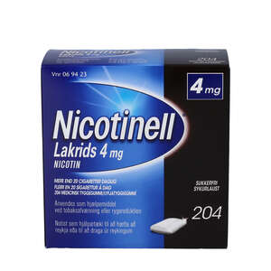 Nicotinell Lakrids 4 mg 204 stk