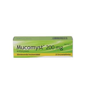 Mucomyst 200 mg 25 stk