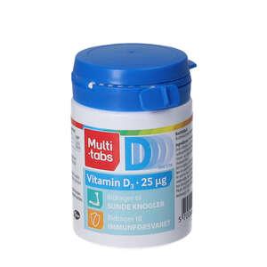 Multi-tabs D3-vitamin tabletter (25 mikrog.)
