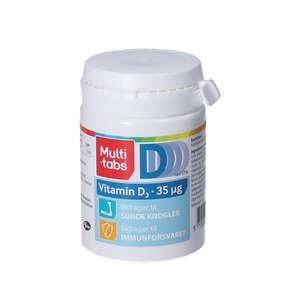 Multi-tabs D3-vitamin tabletter (35 mikrog.)