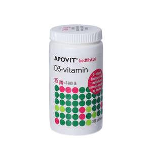 Apovit D3-vitamin tabletter (35 mikg) 300 stk