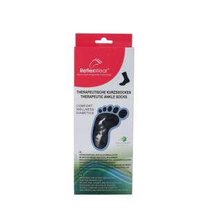 Reflexwear Terapeutisk Ankelstrømpe (M/Tyk/Sort)