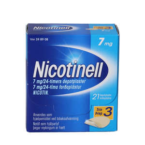 Nicotinell 7 mg/24 timer 21 stk